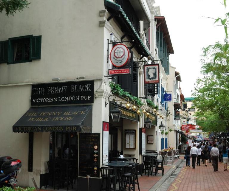 Singapore-The-Penny-Black-pub