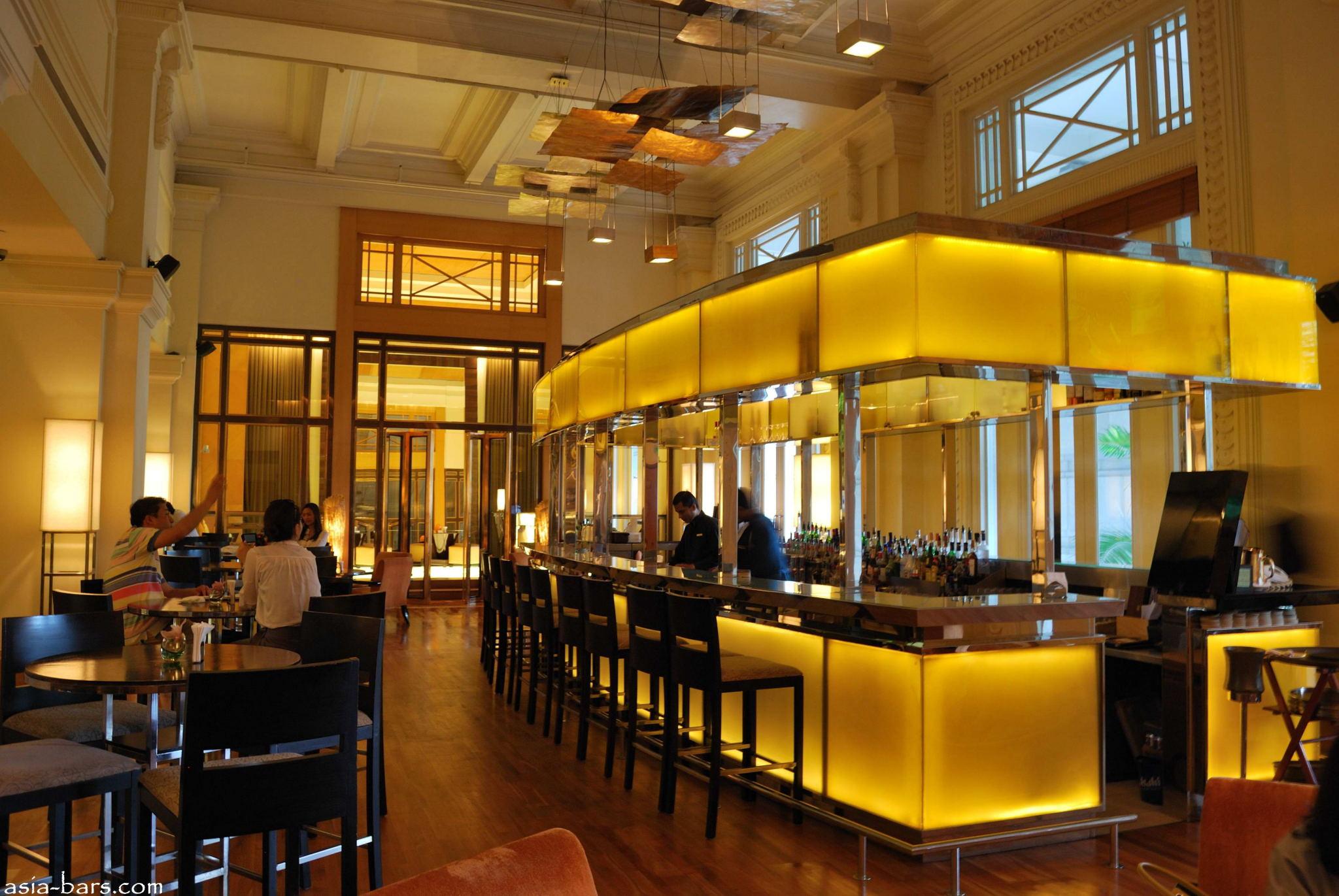 Luxurious Interior Post Bar The Fullerton Hotel Singapore Asia Bars