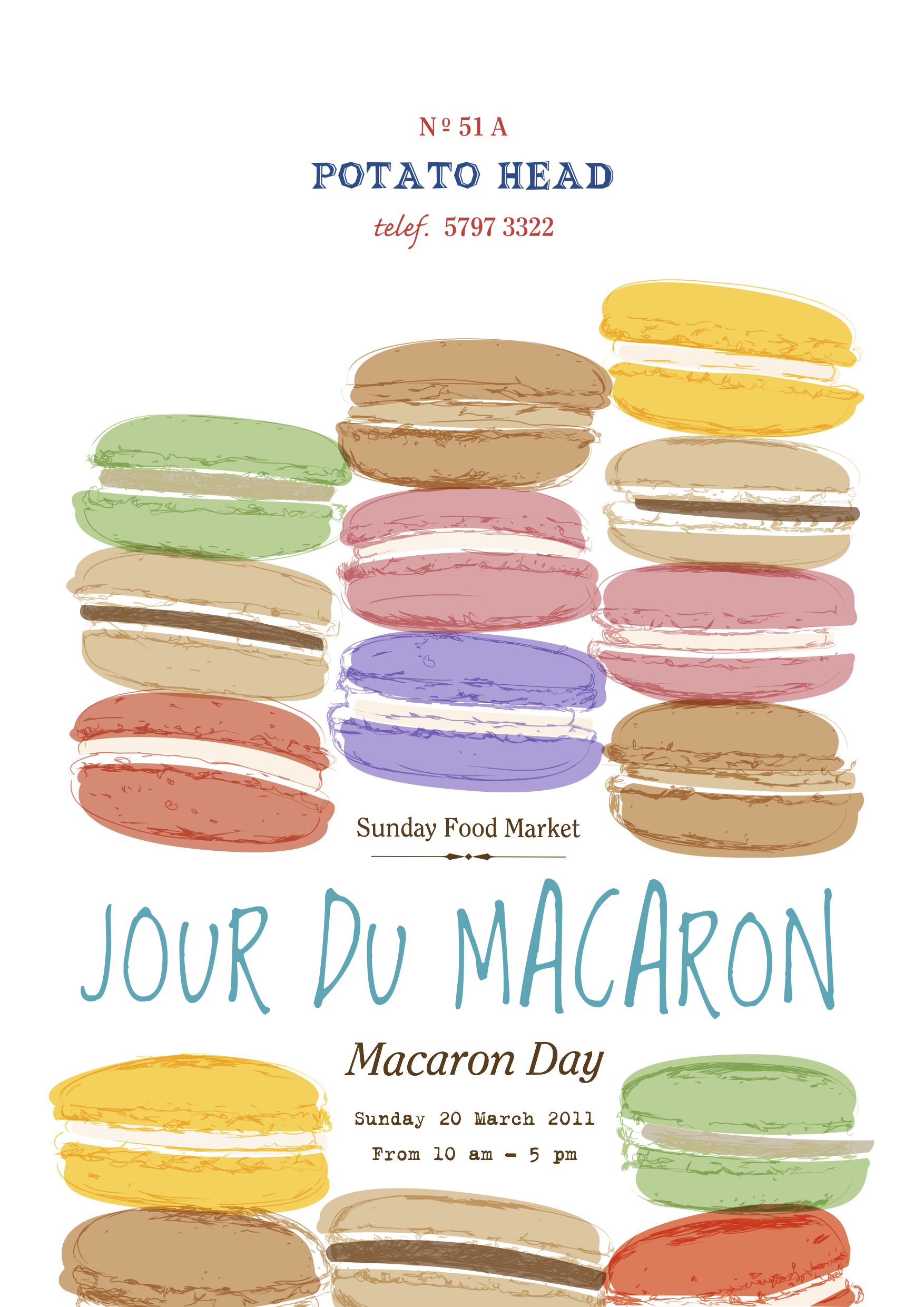 Sunday Food Market at Potato Head Jakarta- jour du Macaron- March 20th