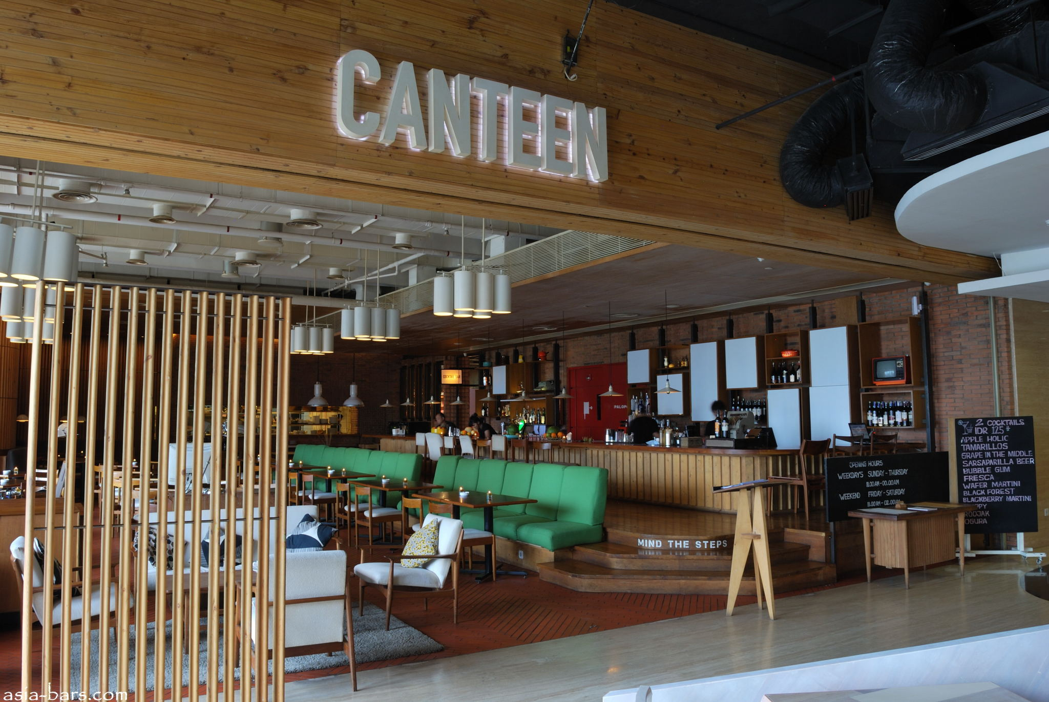 Canteen Popular Gourmet Cafe At Plaza Indonesia In Jakarta Also Specialise In Delicious Cocktails on cafeteria interior design
