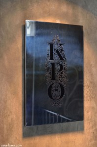 KPO cafe bar- engraved plaque
