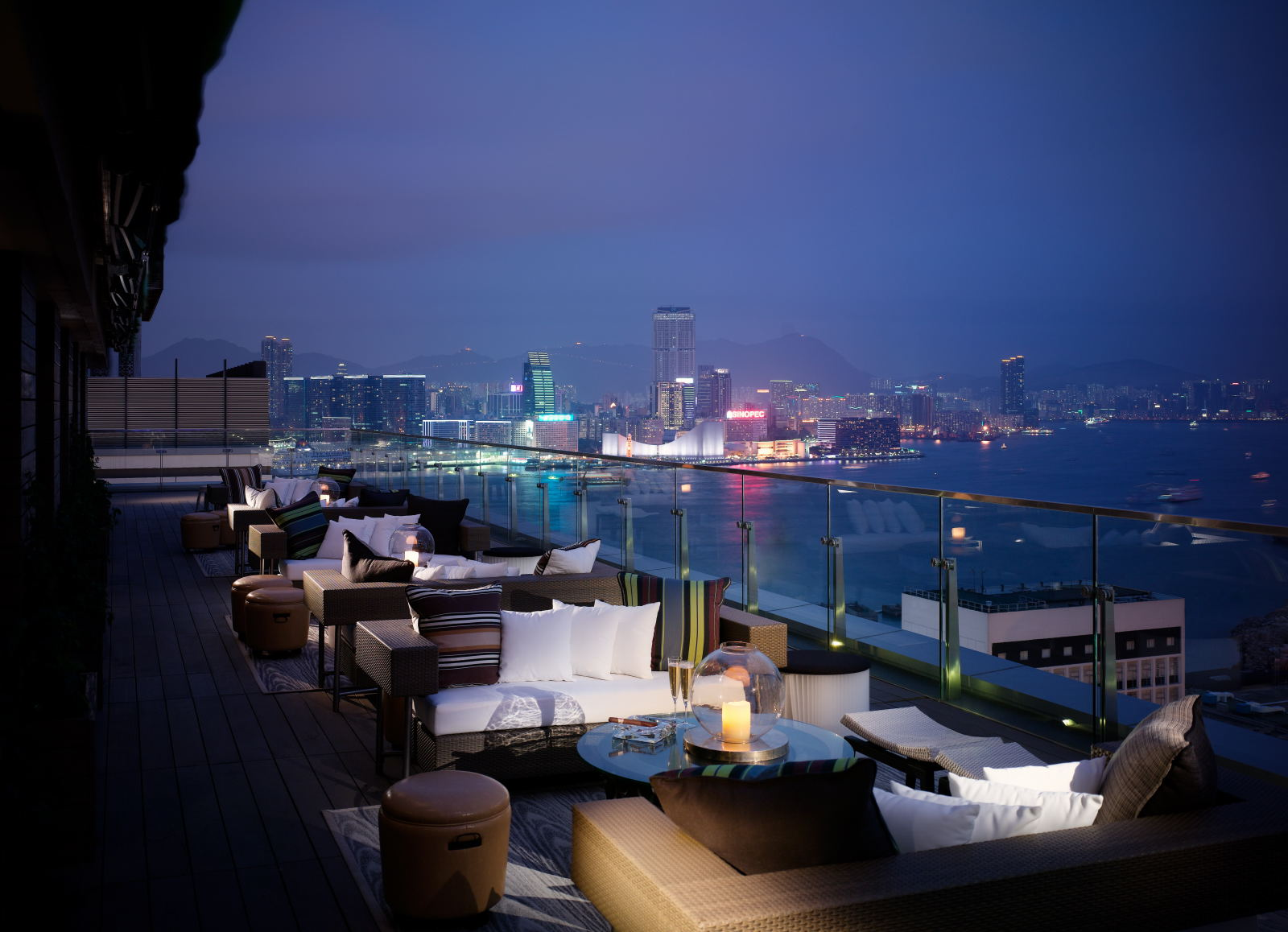 Sevva in hong kong luxurious restaurant and terrace bar for The terrace restaurant and bar