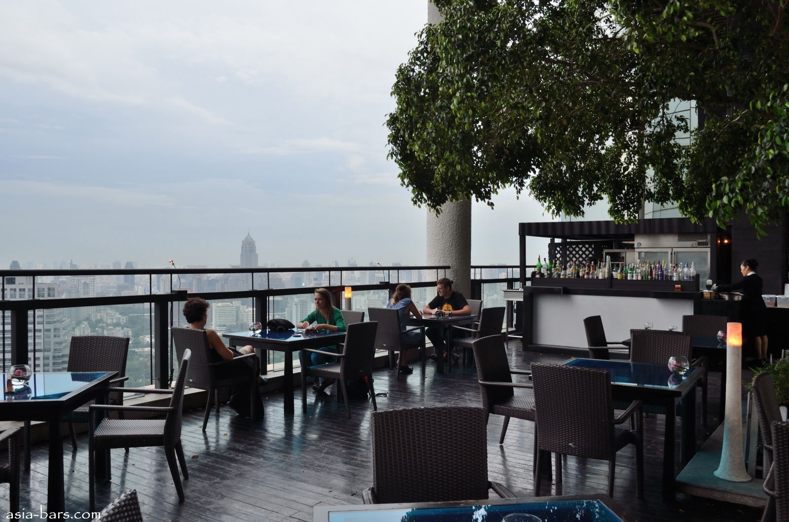 Latitude Lounge Amp Bar At Banyan Tree Bangkok Open Air Sky