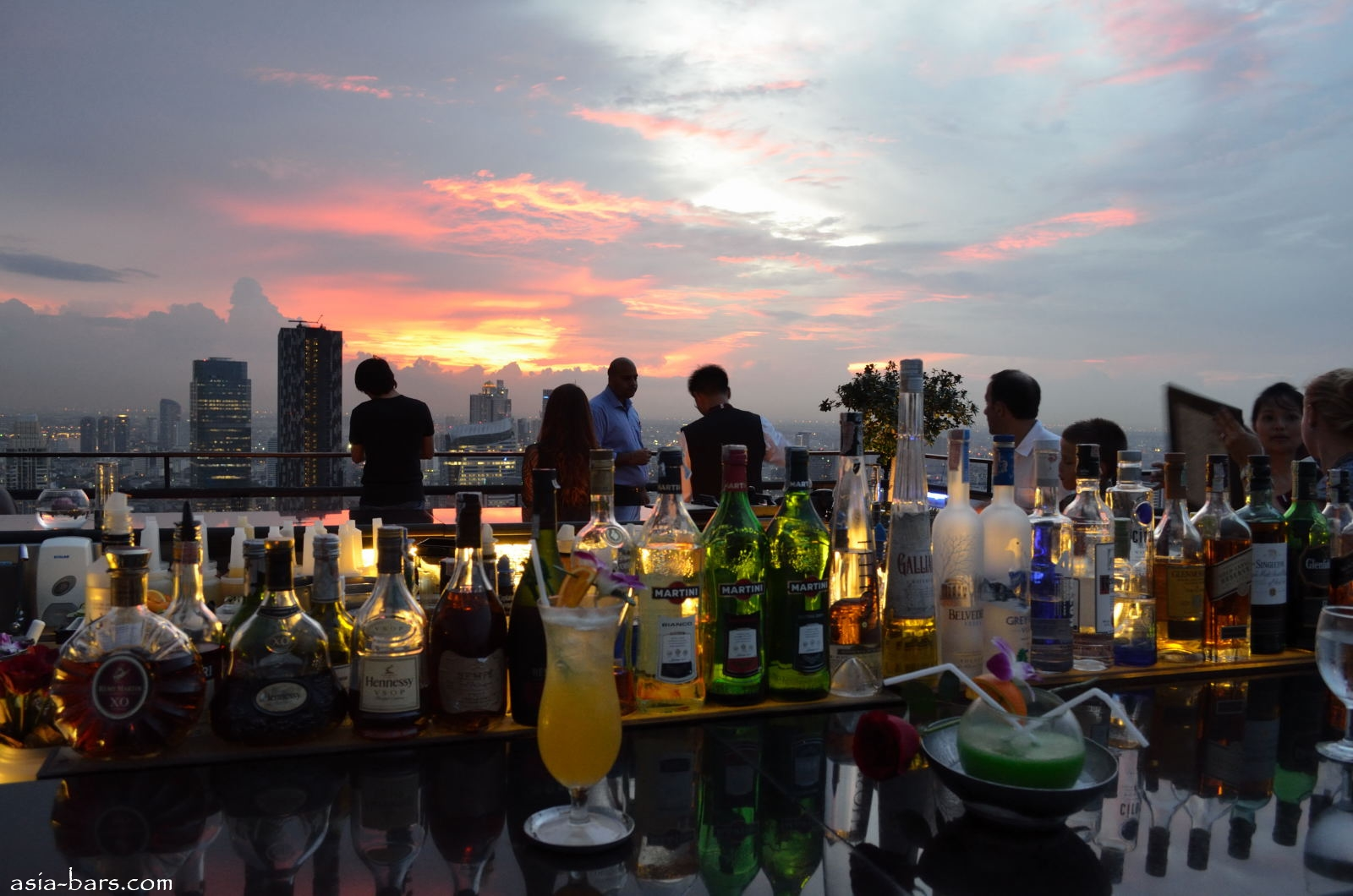 Moon Bar Rooftop At Banyan Tree Bangkok Spectacular