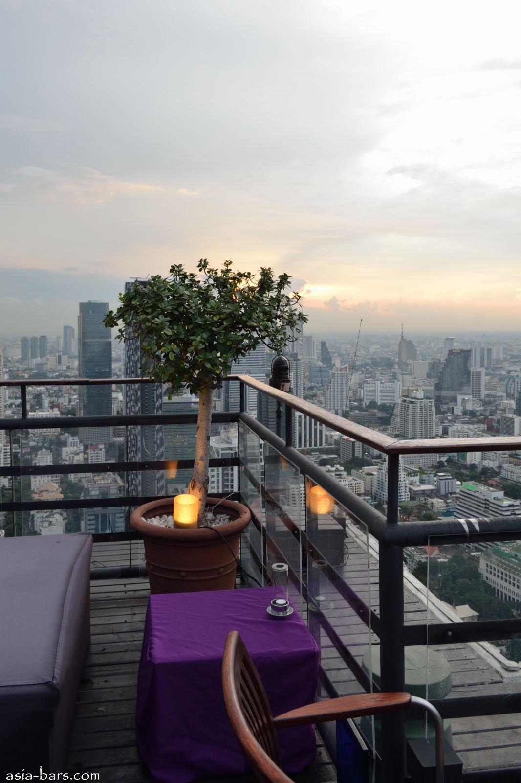 Moon Bar Rooftop At Banyan Tree Bangkok Spectacular Drinks In The Sky Above Bangkok Asia