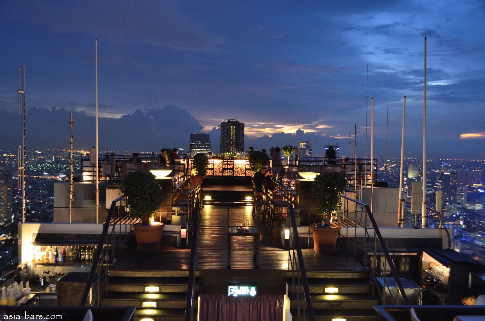 Moon Bar- rooftop at Banyan Tree Bangkok- spectacular ...