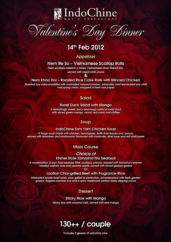 CS valentine menu