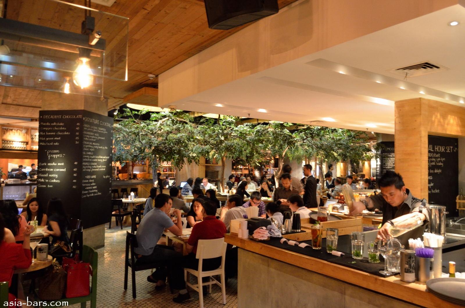 Social house restaurant bar winepost in jakarta for Food bar in restaurant