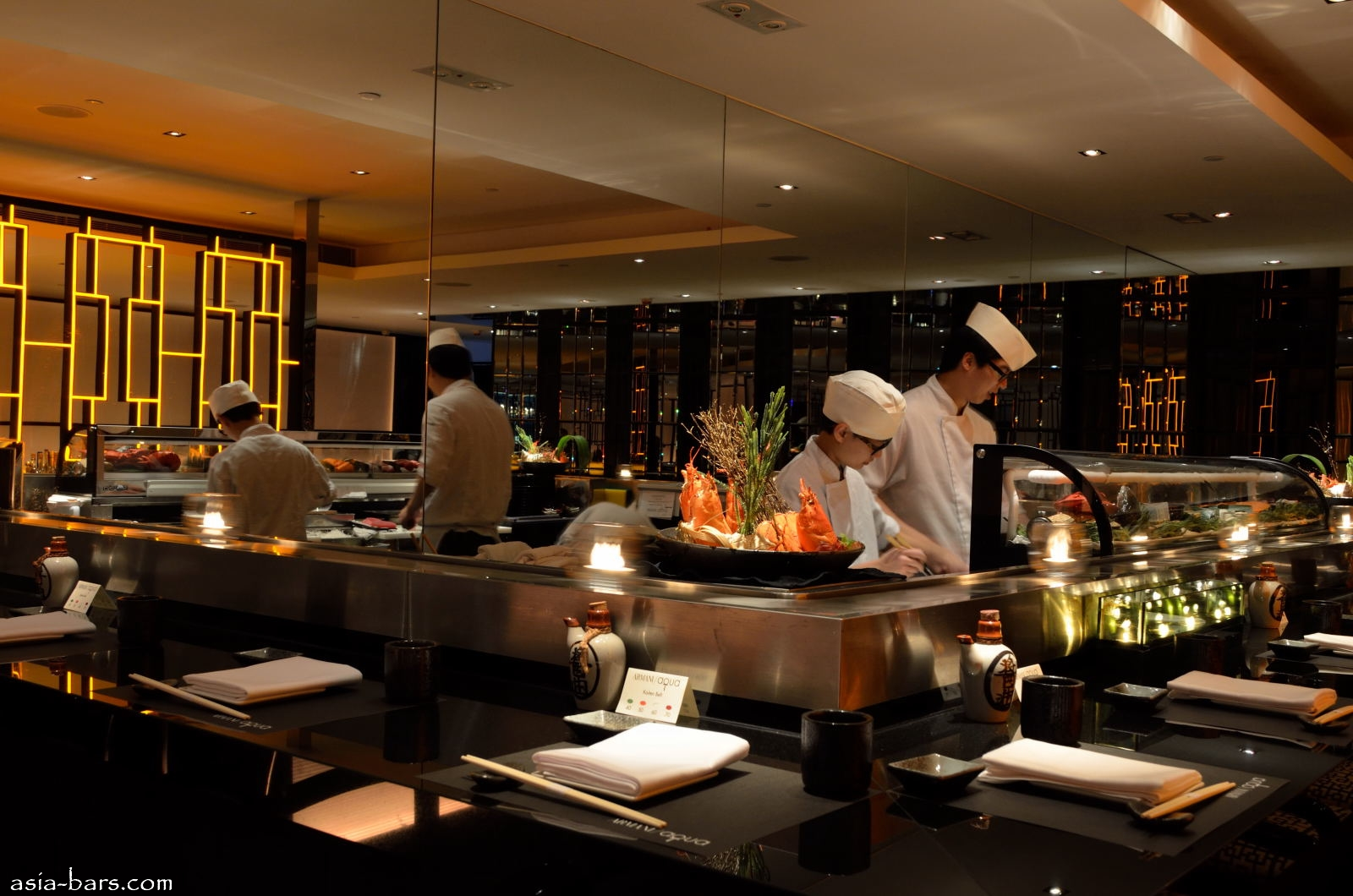 Armani aqua eminently stylish contemporary japanese for Asian cuisine restaurant