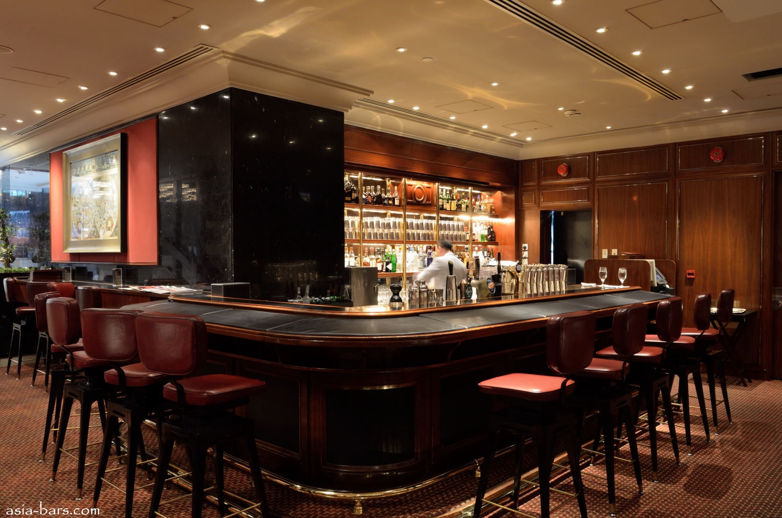 Captain S Bar At Mandarin Oriental Hong Kong Famous Bar