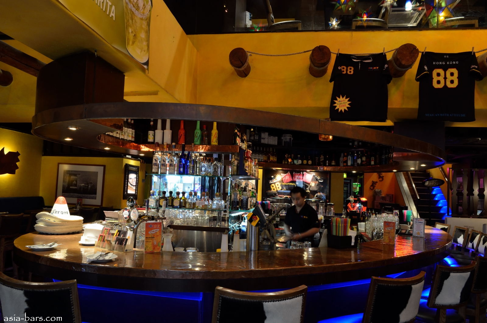 Coyote Bar Amp Grill In Hong Kong Vibrant Mexican