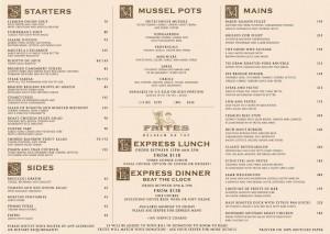 frites menu