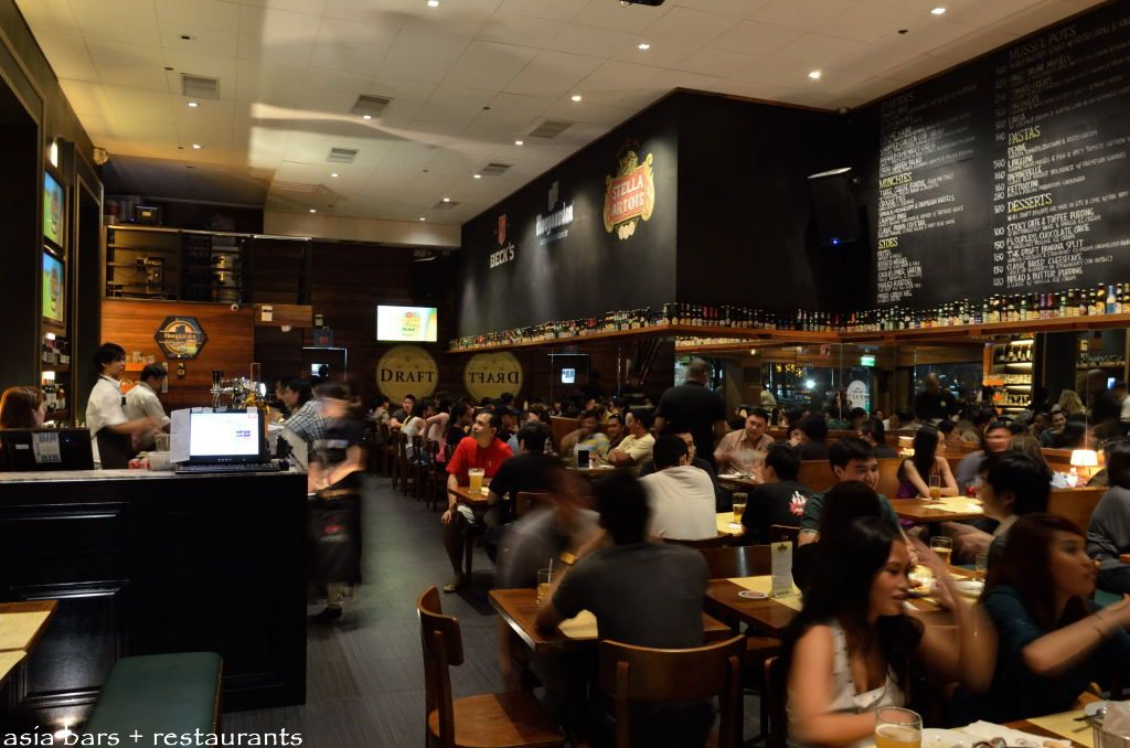 Draft gastropub european beers and quality pub food at for Home bar counter philippines