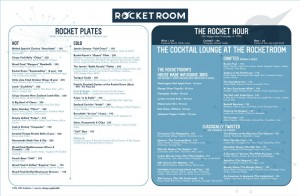 rocket room menu 1