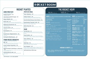 rocket room menu