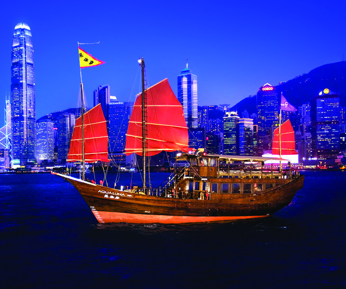 aqua luna- sailing by night