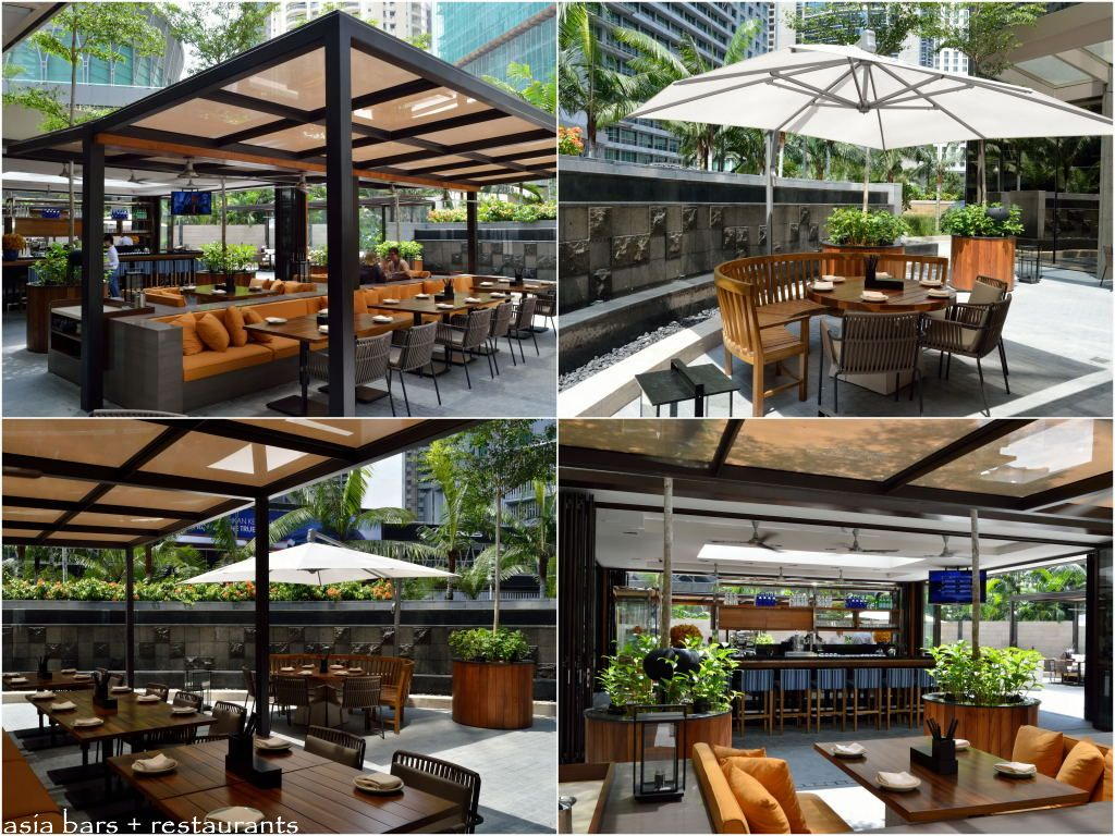 Jp teres indoor outdoor restaurant at grand hyatt kuala for Best outdoor dining