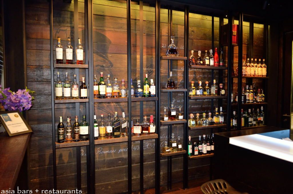 The Bar Counter And Back Water Library Restaurant Wine Room Tail In Bangkok