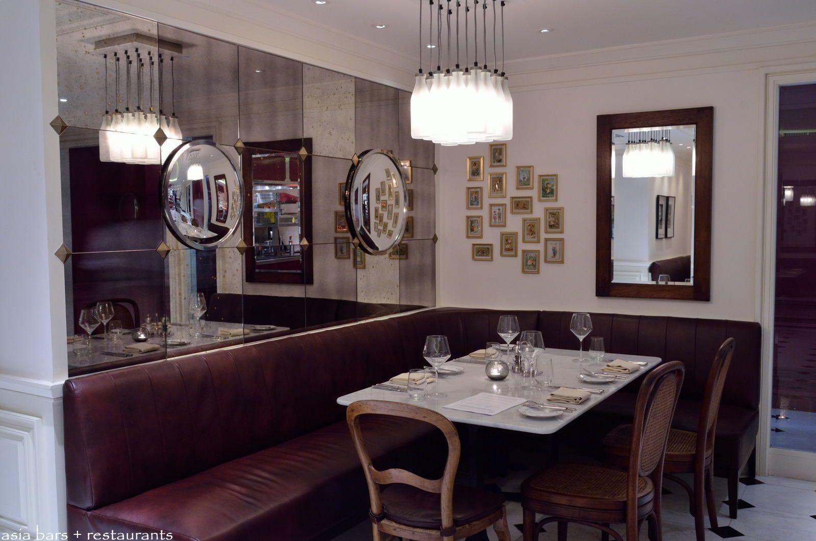 L appart rooftop restaurant bar at sofitel bangkok - Banquette table cuisine ...