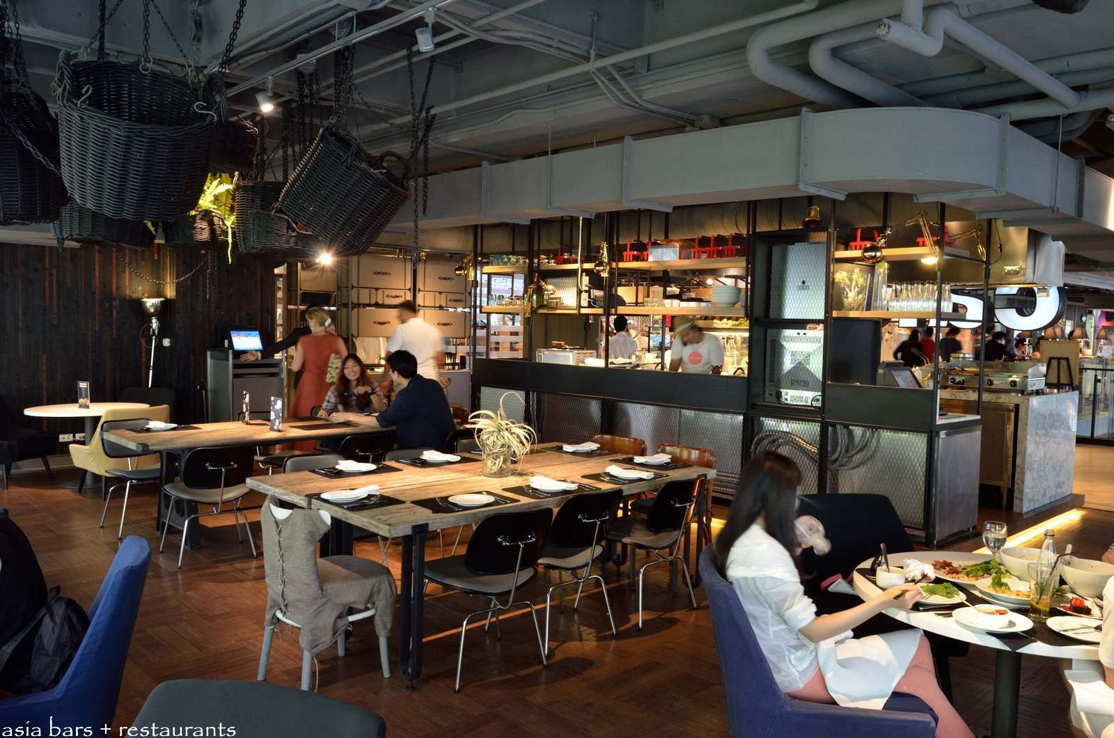 Open Kitchen Floor Plans Designs Greyhound Cafe Siam Center Bangkok Asia Bars Amp Restaurants