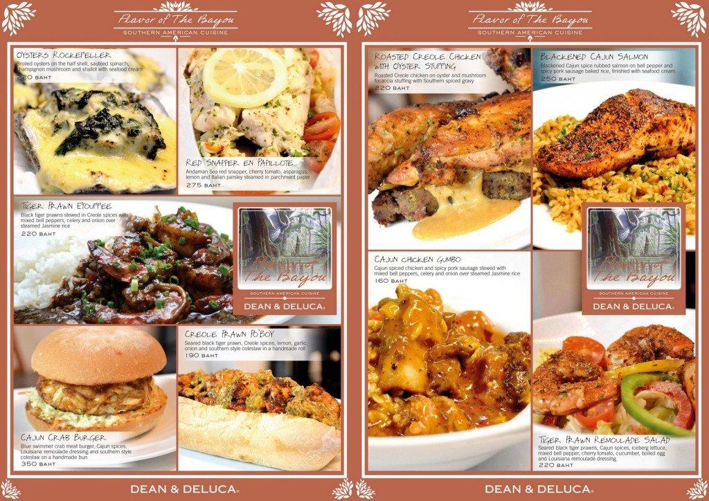 dean & deluca menu card
