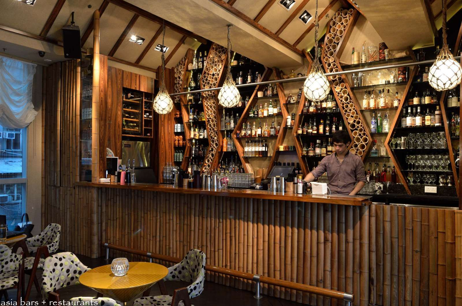 Honi honi tiki cocktail lounge in hong kong asia bars restaurants - Bamboo bar design ideas ...