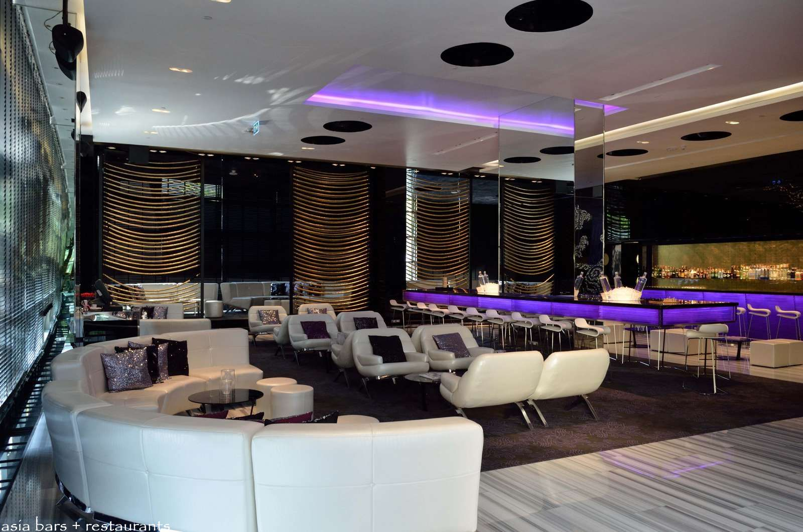 Woobar bar lounge at w bangkok asia bars restaurants for Modern lounge designs