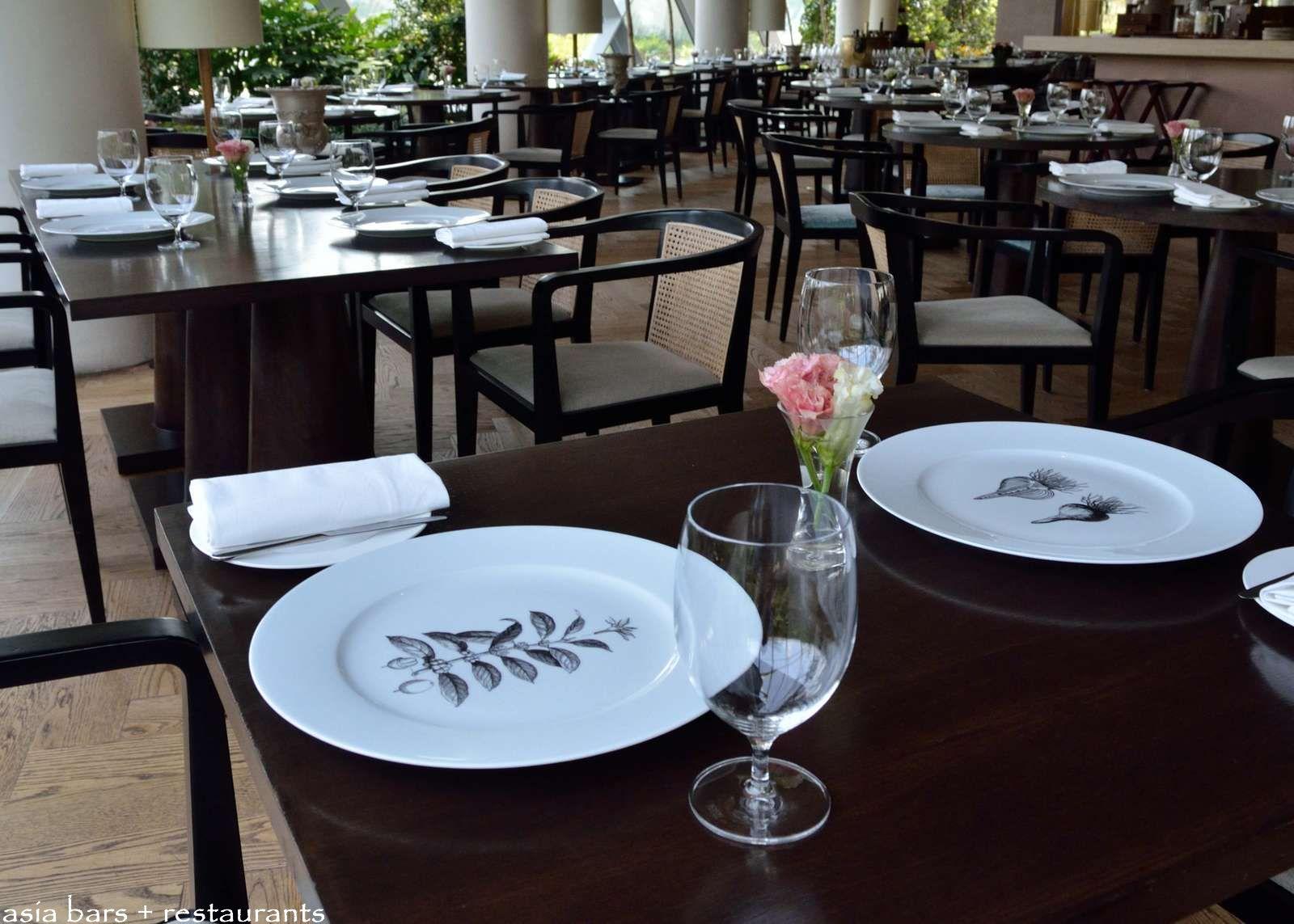 Restaurant table setup - Pollen Fine Dining Restaurant