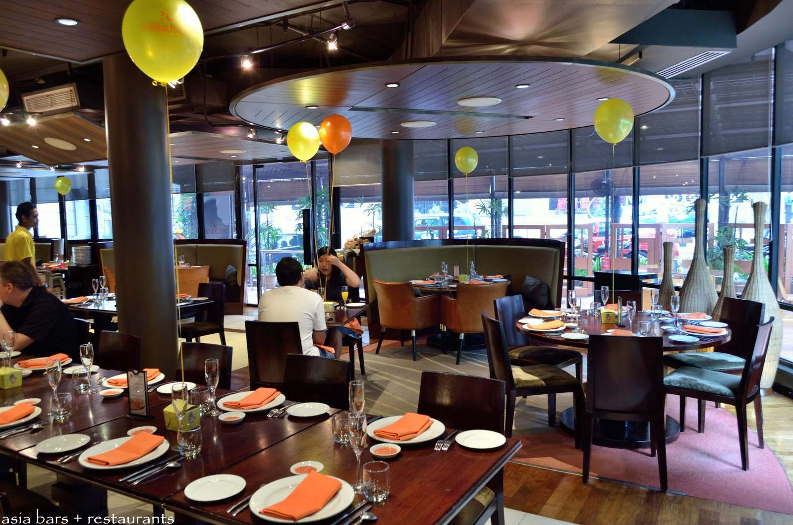 Modern upholstered dining chairs - Prego Modern Italian Restaurant At The Westin Kuala