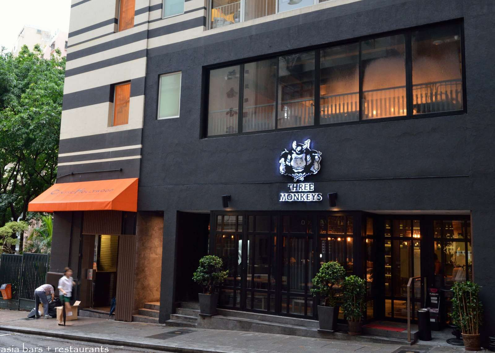 three monkeys a modern izakaya restaurant bar in hong kong asia bars restaurants. Black Bedroom Furniture Sets. Home Design Ideas
