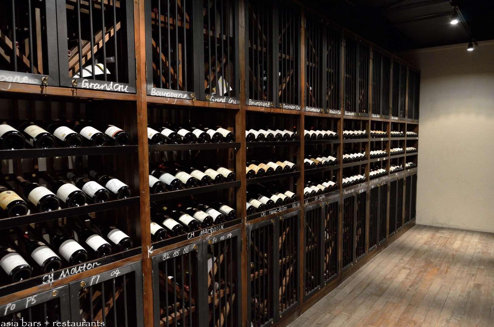 Roosevelt wine cellar restaurant at the bund shanghai for Cost to build a wine cellar