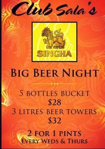 club sala singapore-singha beer