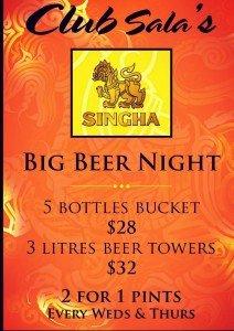 club sala singapore-singha beer