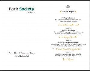 park society champagne dinner
