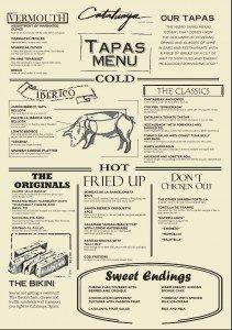 catalunya tapas menu