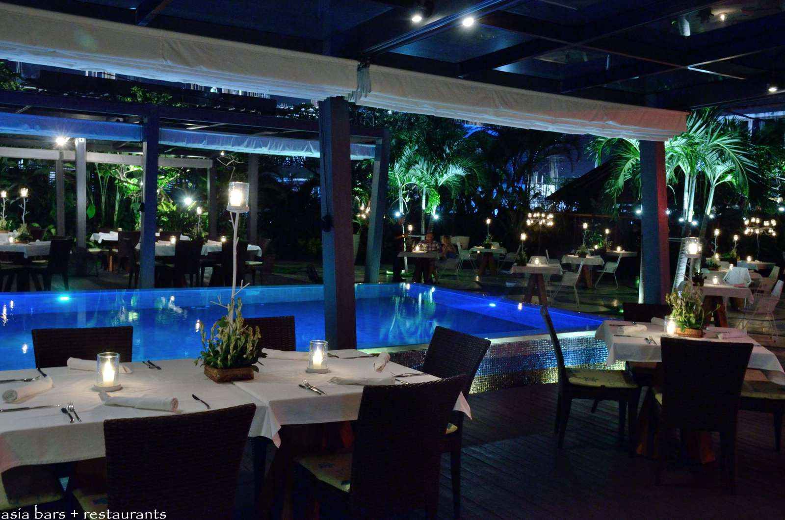 Baba s peranakan themed restaurant at hu u bar in bali for Restaurant with terrace