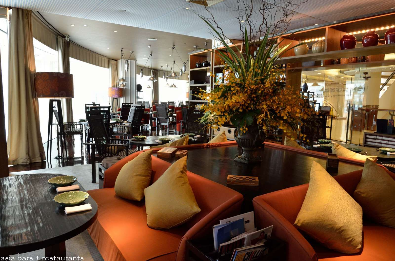Erawan Tea Room- authentic Thai cuisine at Grand Hyatt Erawan ... on glass house cafe, muffin house cafe, coffee house cafe,