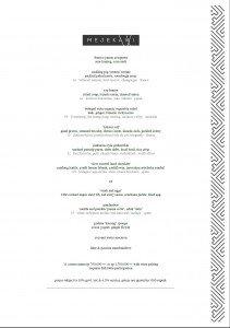 mejekawi 11course menu