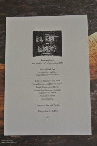 burnt ends banquet menu
