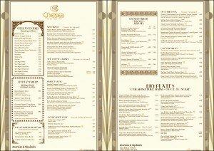 chelsea menu