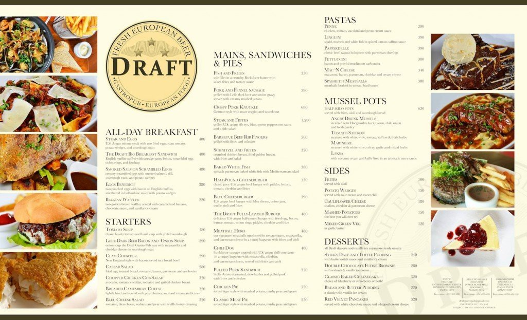 draft greenbelt menu