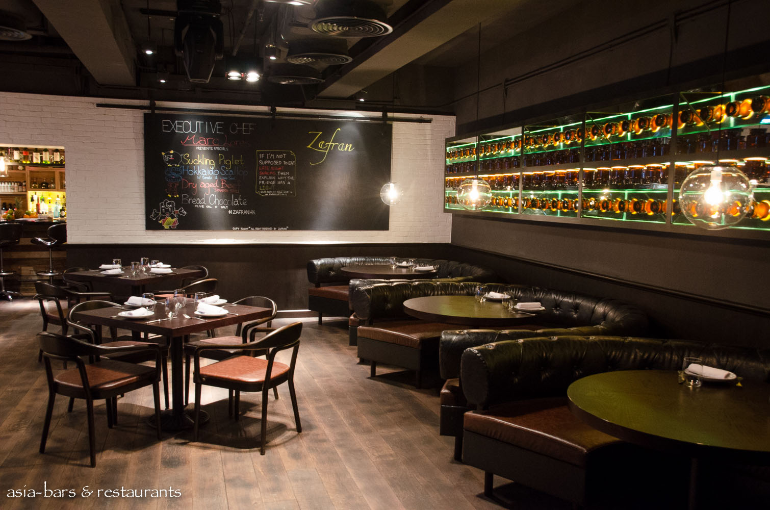 Zafran tapas bar modern spanish restaurant hong kong asia bars restaurants - Moderne loungebar ...