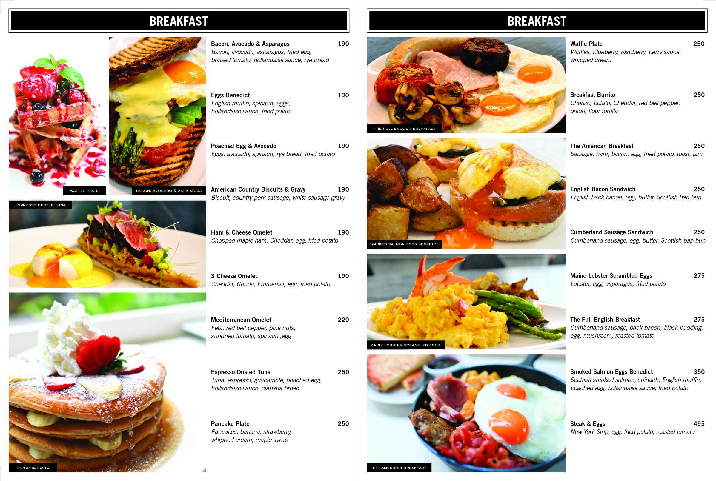 American Kitchen Breakfast Menu