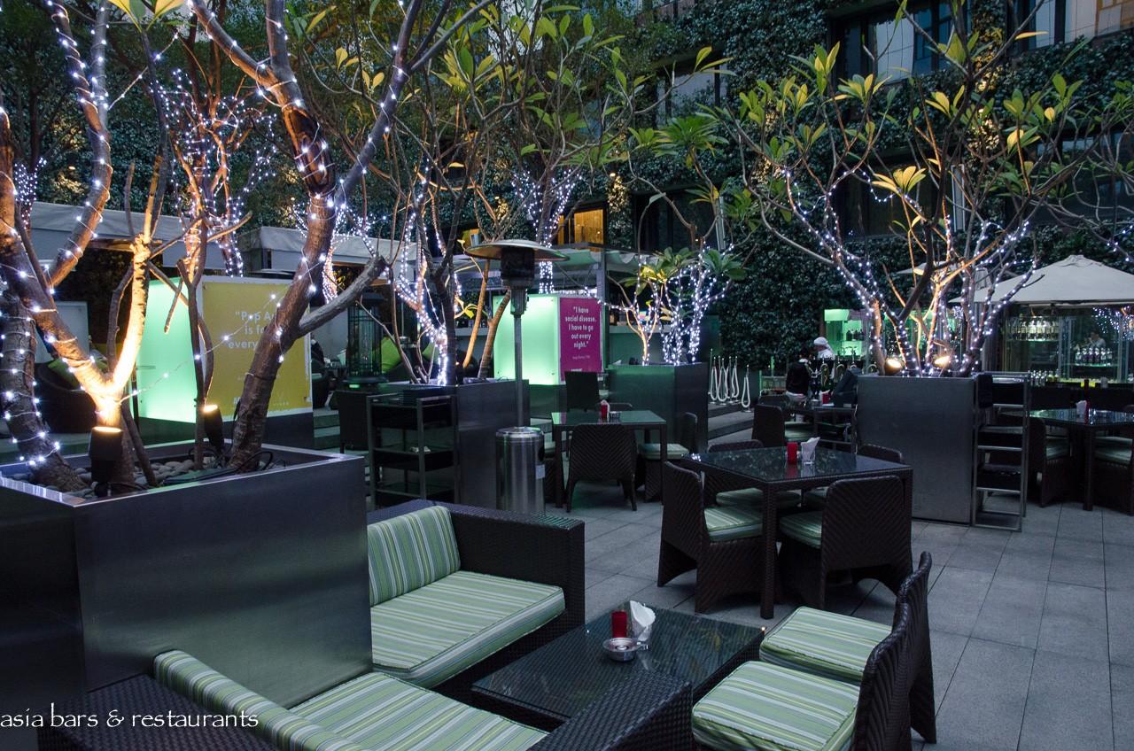 Vibes Open Air Lounge Bar At The Mira Hong Kong Asia