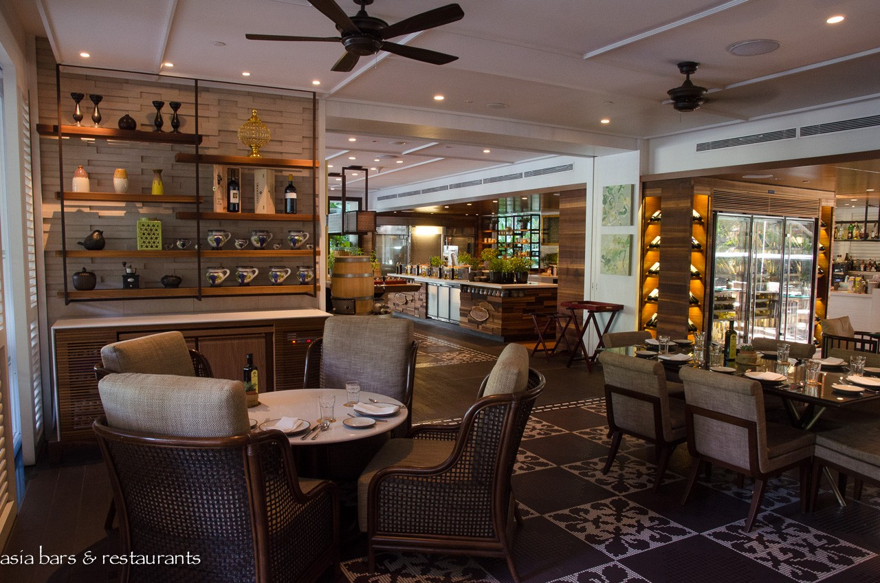 Waterfall ristorante italiano italian restaurant at for Cuisine designer italien