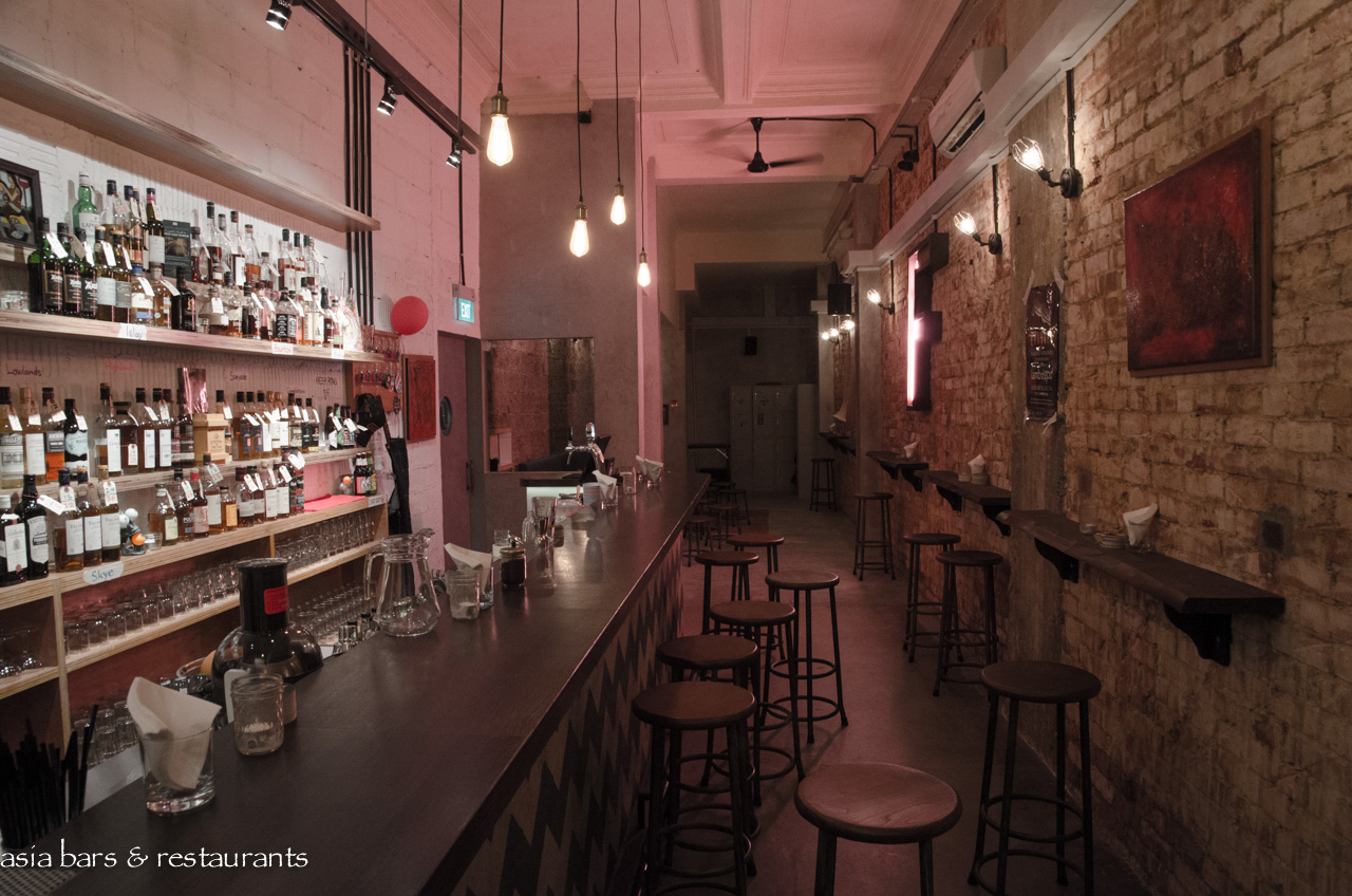The flagship a whisky centric dive bar in singapore for Bar dive