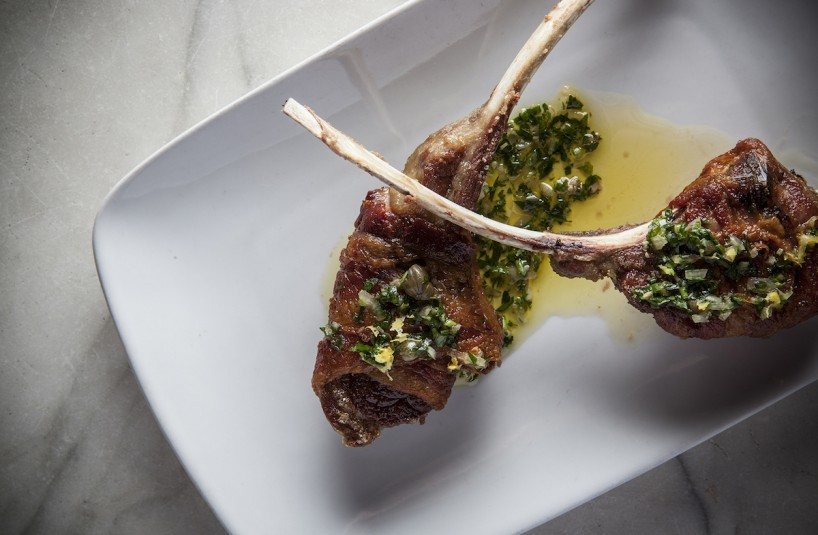 EO Lamb Chops Wrapped in Bacon