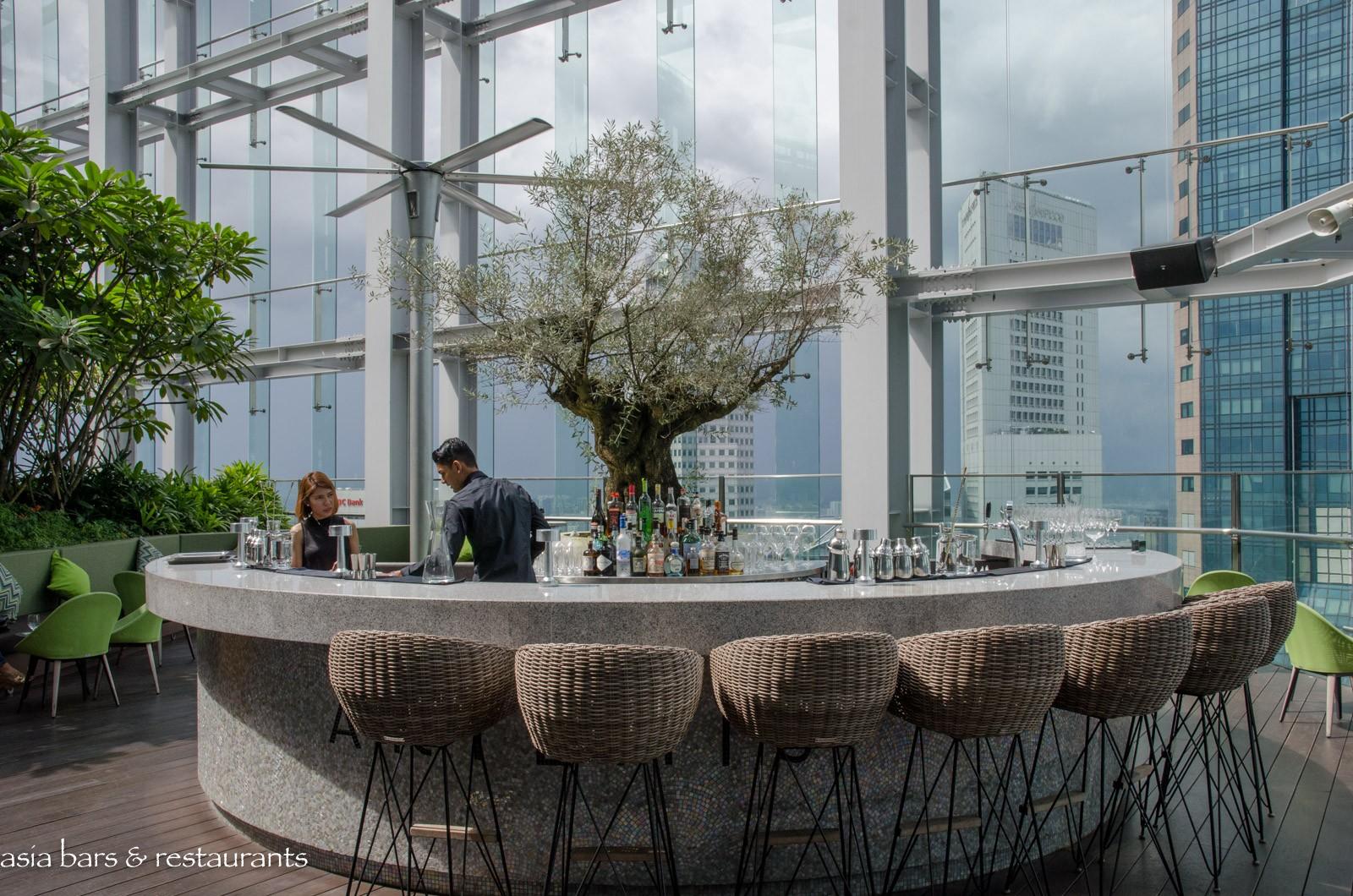 Artemis grill rooftop mediterranean restaurant bar in singapore asia bars restaurants - Restaurant bar and grill ...