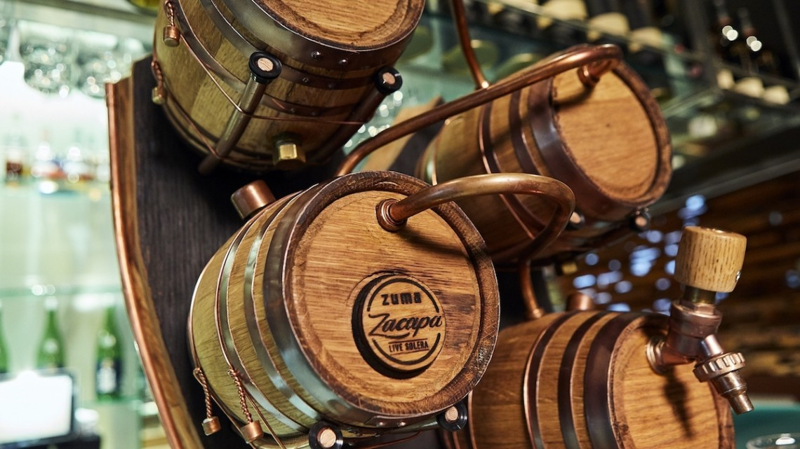 Zuma Zacapa Solera System barrels