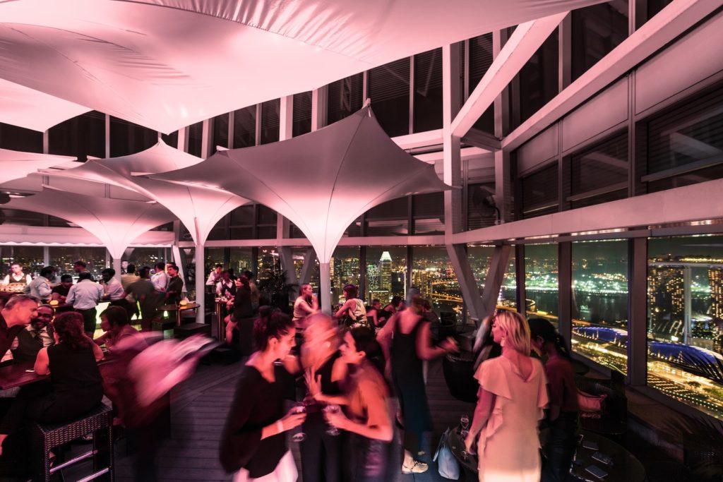 Zafferano_Terrace Lounge_City skyline (night)